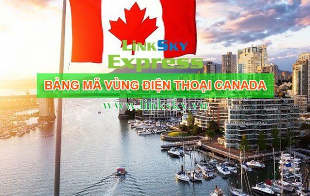 Bảng mã vùng điện thoại Canada